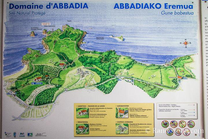 Carte domaine d'Abbadia