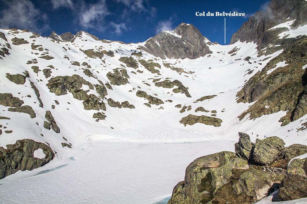 Col du Belvédère depuis le lac Blanc