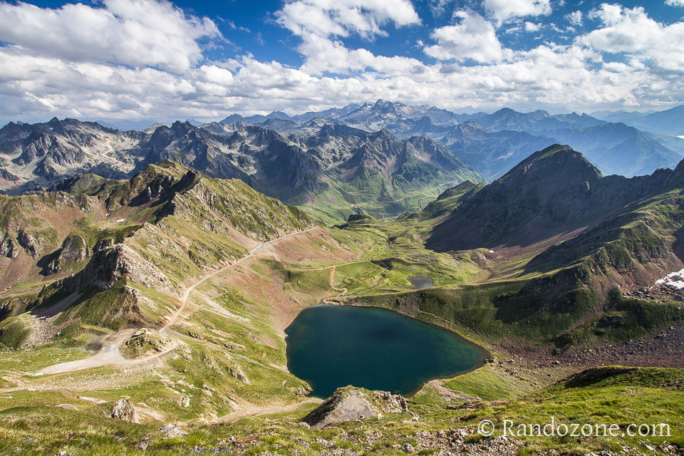 Au dessus du lac d'Oncet dans les Pyrénées