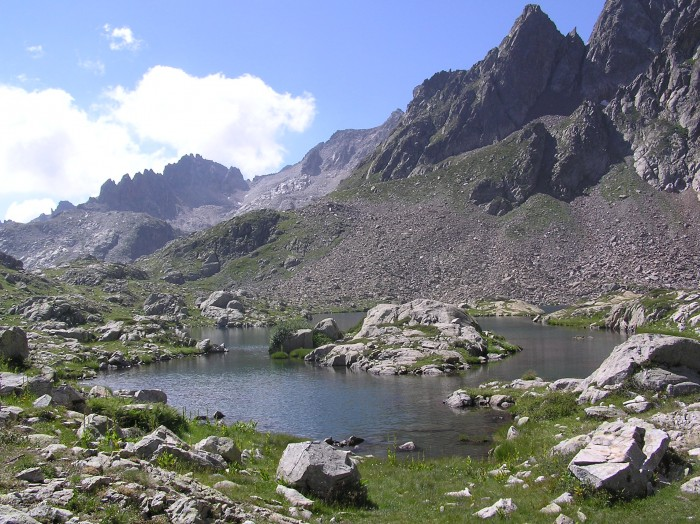 Lago del Claus en Italie (Argentera)