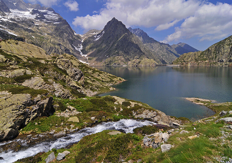 Lac Brocan. Source : Parc National du Mercantour PNM